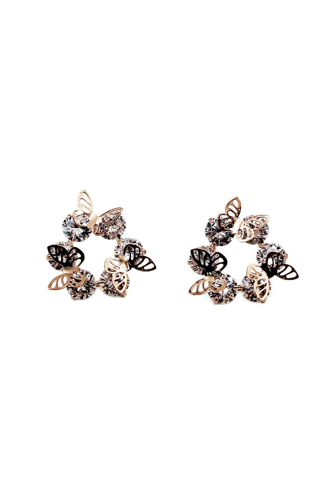 mini butterfly earrings bracelet set