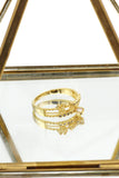 fashion mini crystal golden ring