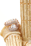 sparkling luxury crystal ring