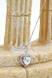 lovely peach heart crystal necklace