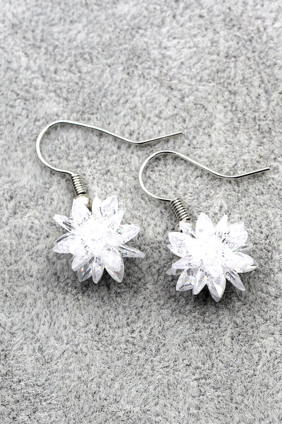 snow white crystal earrings