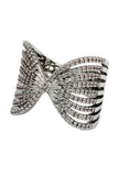 sparkling crystal butterfly powder ring