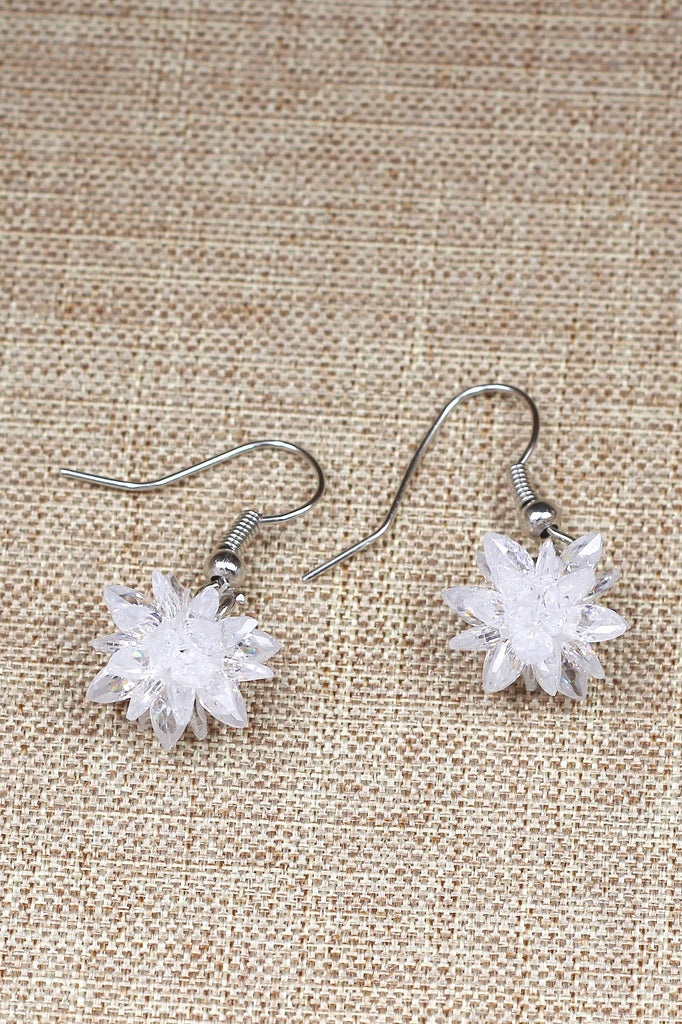 fashion snowflake silver necklace earrings set