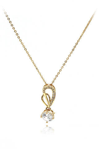 single swan crystal necklace