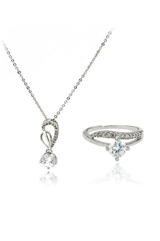 beautiful crystal earrings necklace set