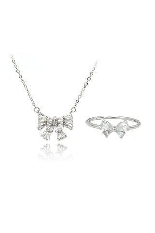 shiny crystal earrings necklace set