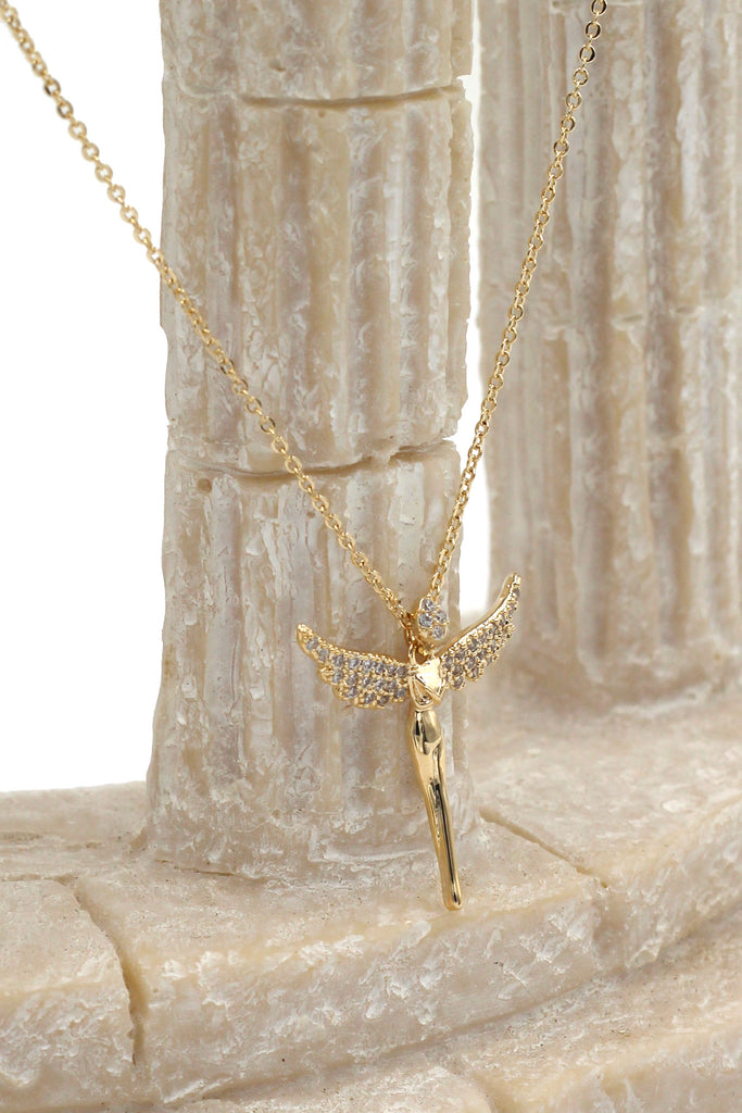 mini angel clavicle necklace