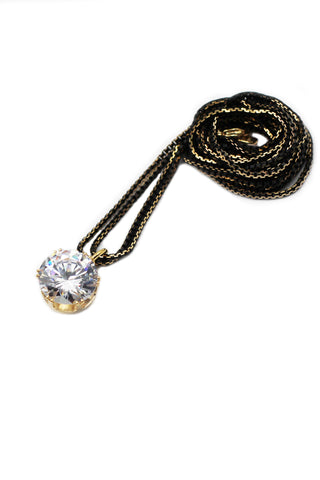 luxury pendant crystal golden necklace