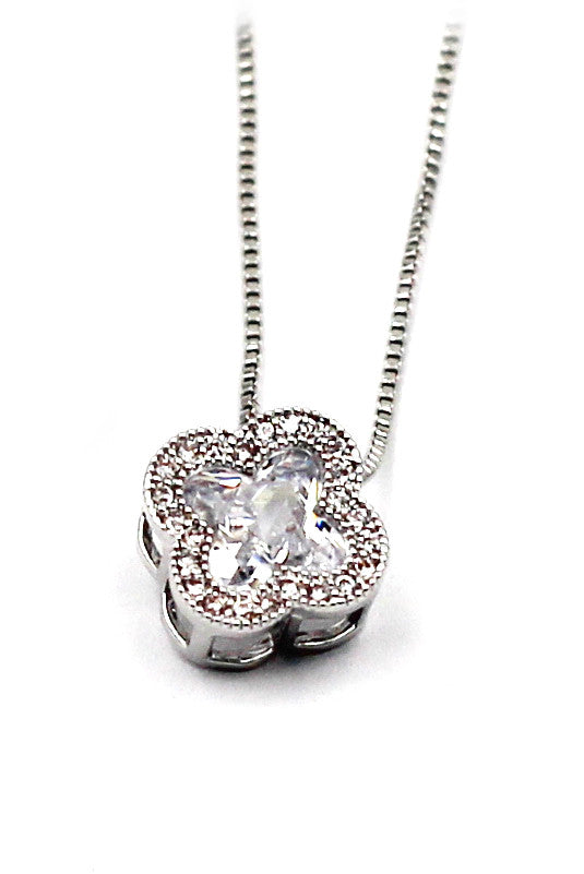 stylish cherry crystal necklace