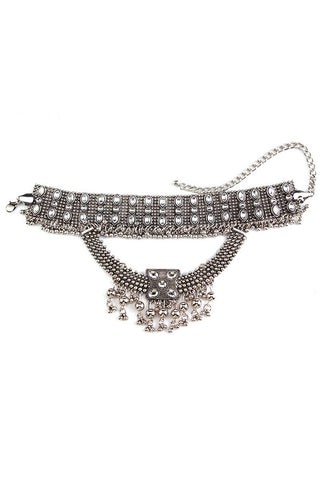 fashion lace drop net choker
