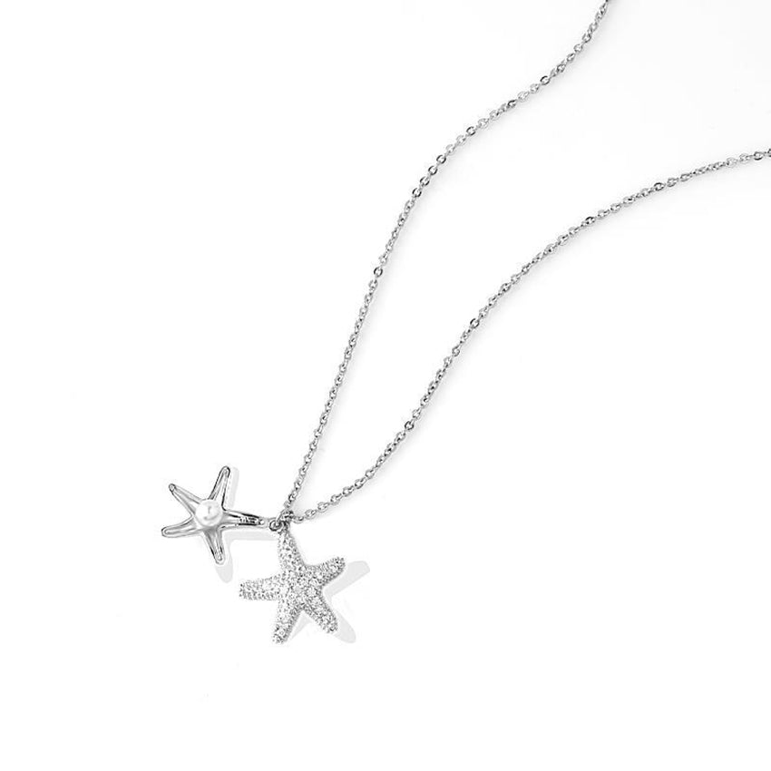 Fashion starfish pearl necklace