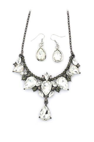 Lady foliage crystal neklace