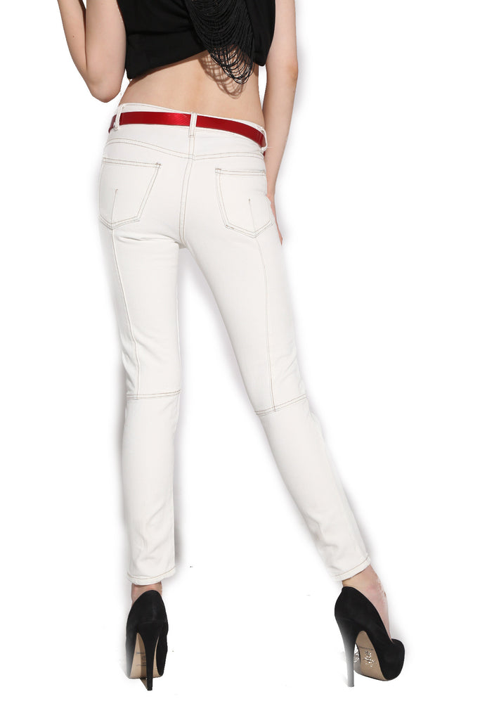 White Destroy Denim
