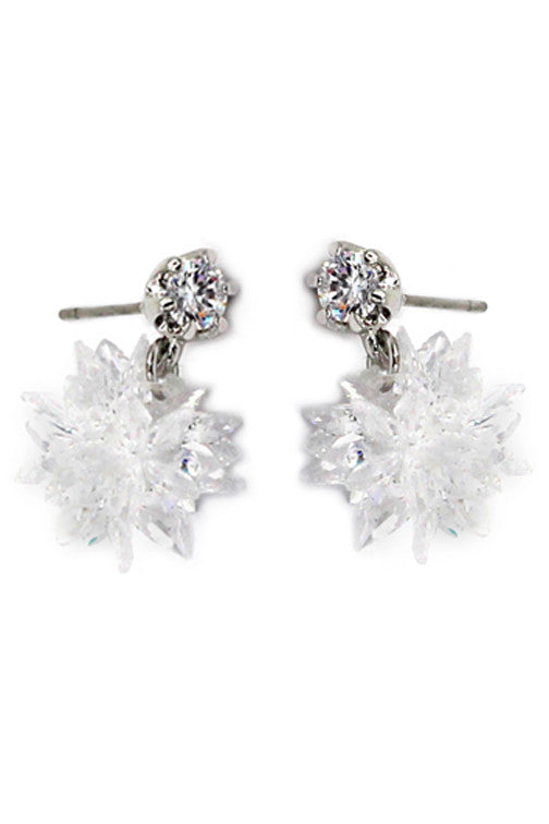 Noble Crystal Ice Earrings