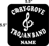 CG Trojan Band Vehicle Decal