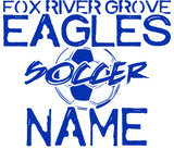 Fox River Grove Eagles- Personalized Stickers