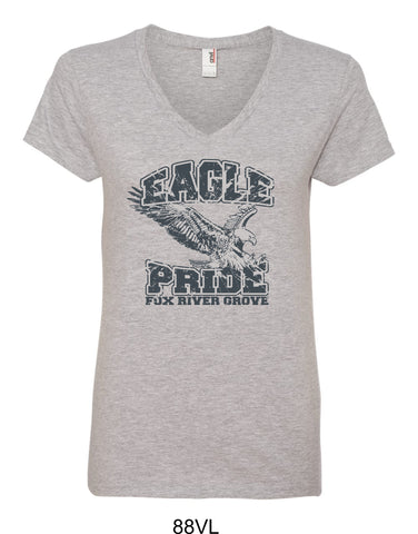 2019/2020 FRG Eagles Spiritwear - Ladies Vneck- Design1