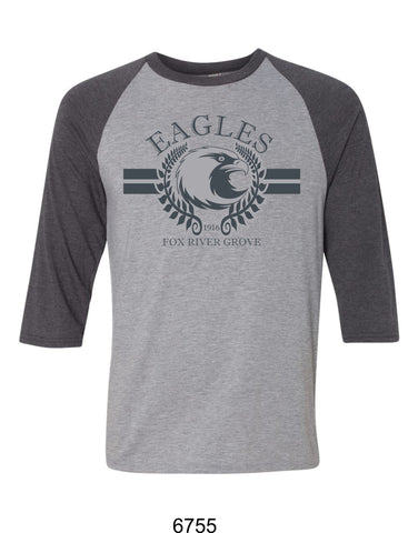 2019/2020 FRG Eagles Spiritwear - Ragland T-Shirt- Design2