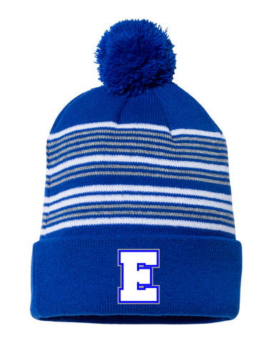 Fox River Grove Eagles Basketball- Embroidered Pom-Pom Knit Cap