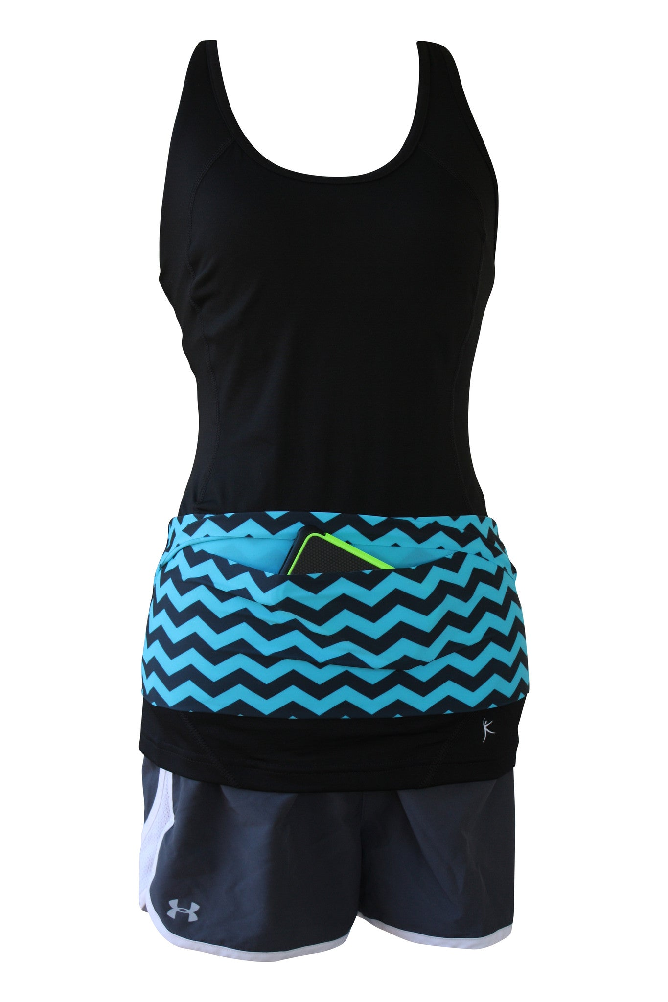 Electric Blue Chevron Running Belts - speedzter - 4
