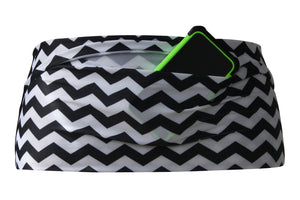 Black & White Chevron Running Belt - speedzter  - 2