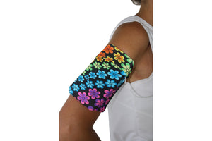 Rainbow Flowers Cell Phone Armband