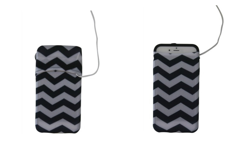 Black & White Chevron Cell Phone Armband