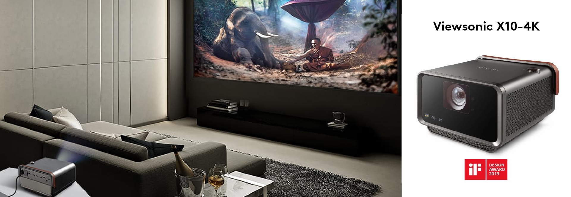 Projectors from Viewsonic like the X10-4K that provide stunning clarity, color, and throw angles and distances for any type of setup - Home or Corporate use   Kaira Global