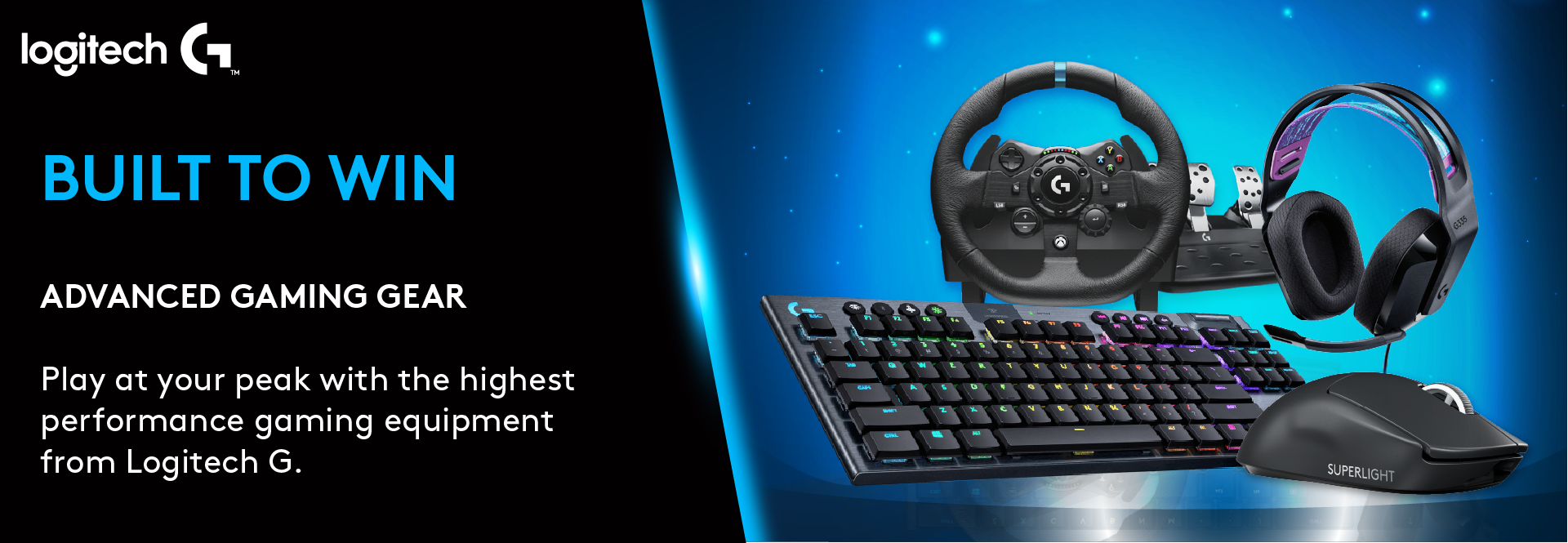Built to Win - Create your game-winning setup with masterly crafted mice, keyboards, steering wheels, and gaming headsets to take you ahead in the game - Logitech G   Kaira Global
