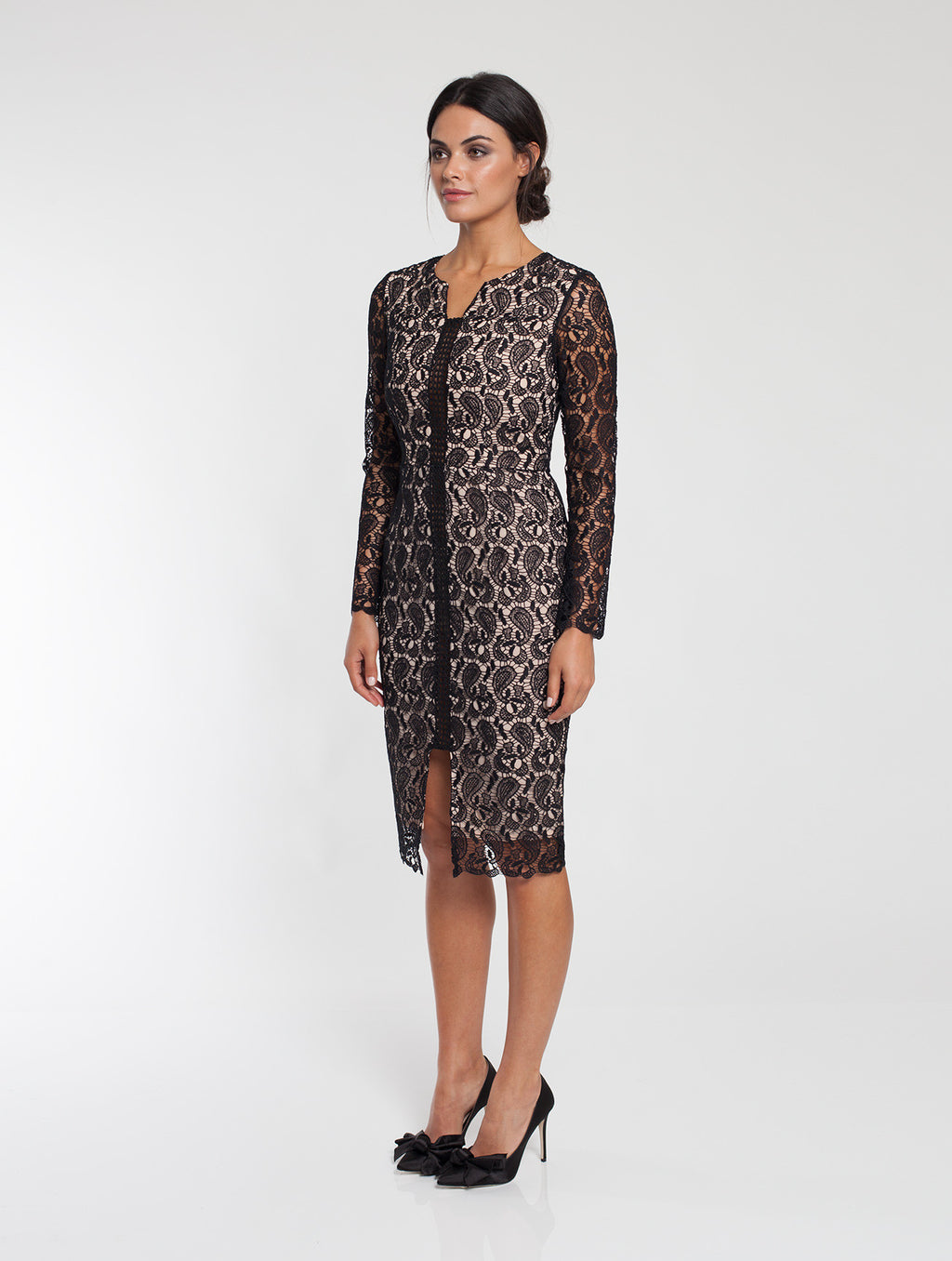 Ally Lace Long Sleeve Dress