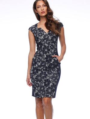 Montanna Sweet-Heart Dress with Print