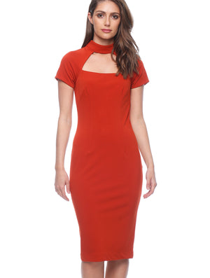 Jolie Collar Midi Dress