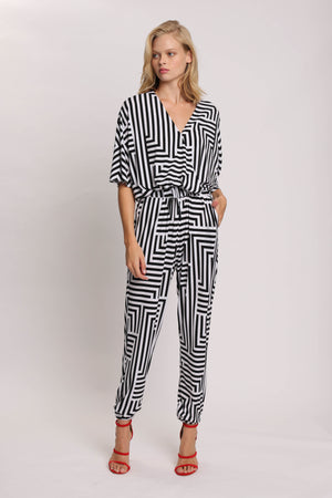Abstract Ink Jumpsuit