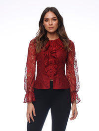 Temple Ruffle Shirt