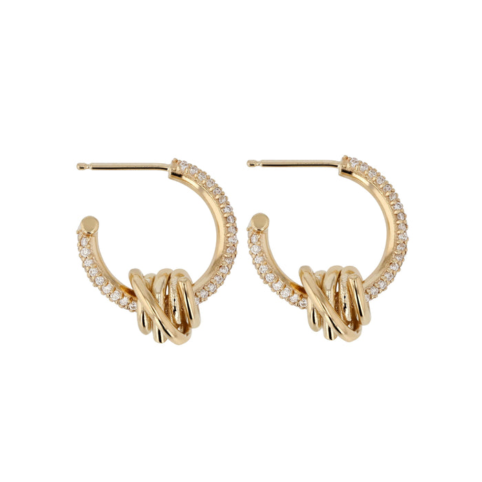 Bound Wrap Diamond Hoops Yellow Gold | Sarah & Sebastian