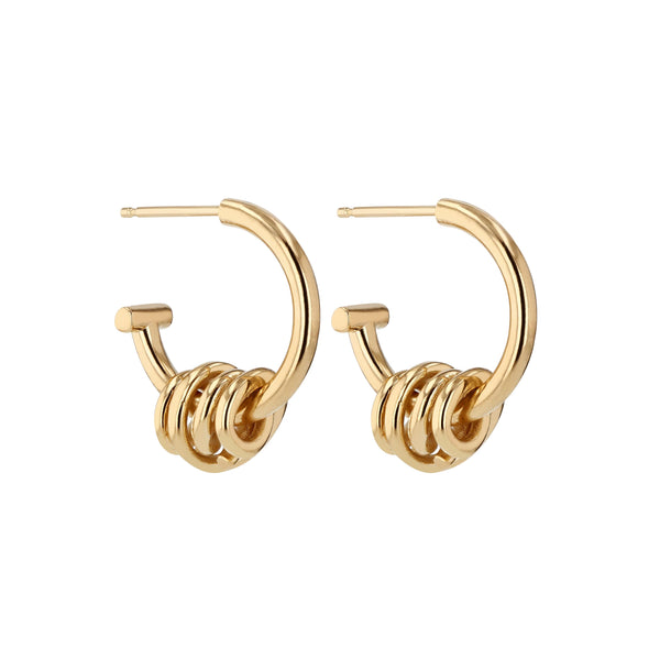 Bound Wrap Hoops Yellow Gold | Sarah & Sebastian
