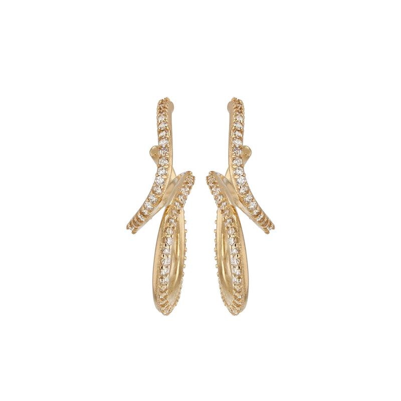 Buoy Diamond Hoops Yellow Gold | Sarah & Sebastian