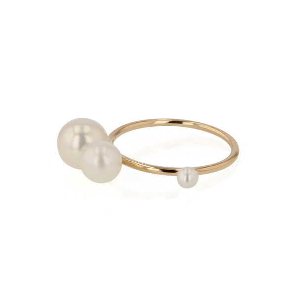 Buoy Pearl Ring Yellow Gold | Sarah & Sebastian