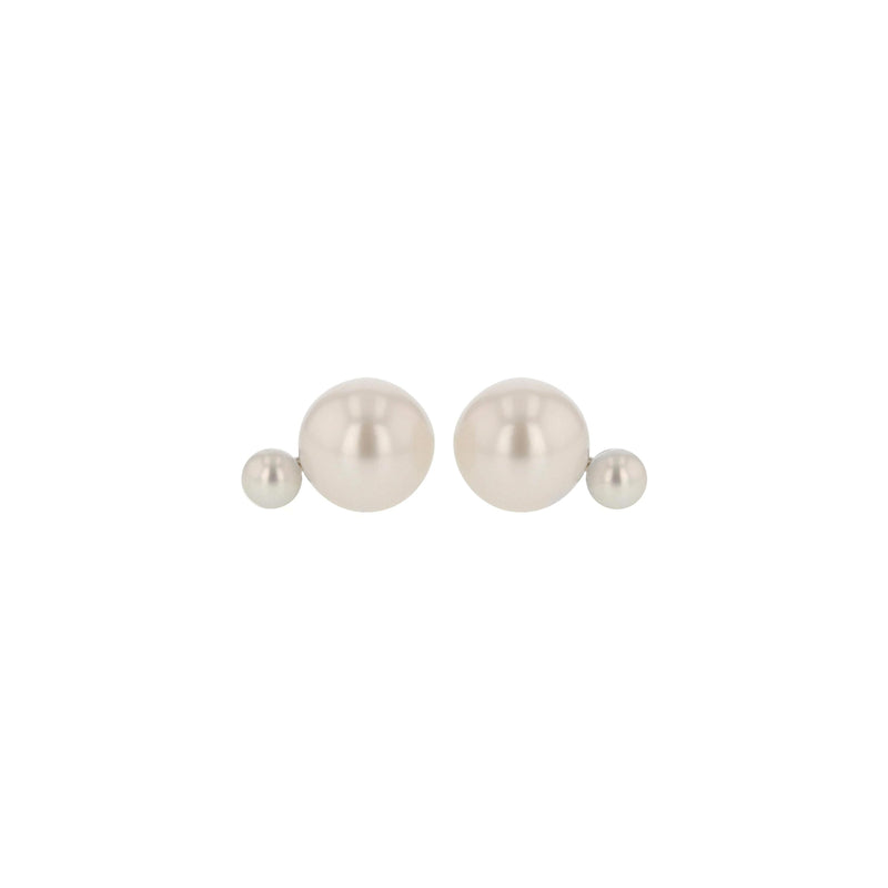 Buoy Pearl Earrings Silver | Sarah & Sebastian