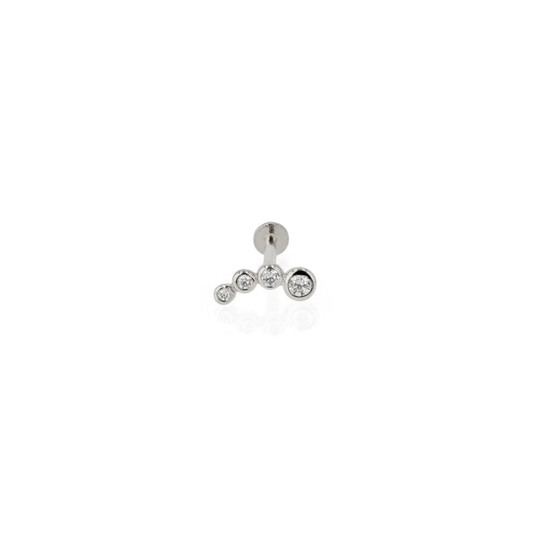 Bloom Diamond Cartilage Earring White Gold | Sarah & Sebastian
