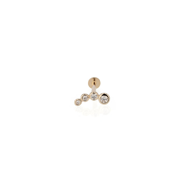 Bloom Diamond Cartilage Earring Yellow Gold | Sarah & Sebastian