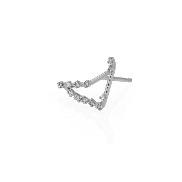 Single Celestial Capricorn Earring White Gold | Sarah & Sebastian