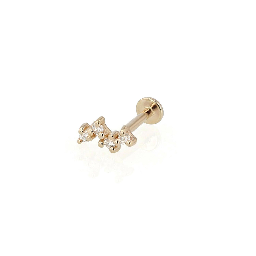 Tiny Cluster Diamond Cartilage Earring