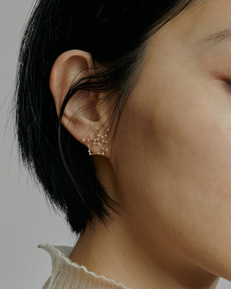 Single Celestial Sagittarius Earring Gold | Sarah & Sebastian onBody