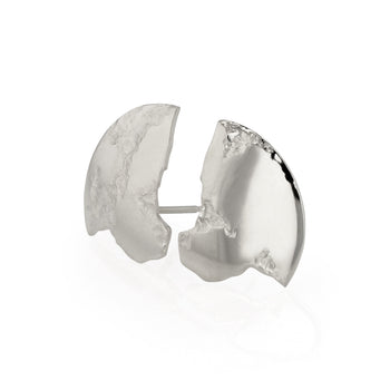Chasm Disc Earrings Silver | Sarah & Sebastian