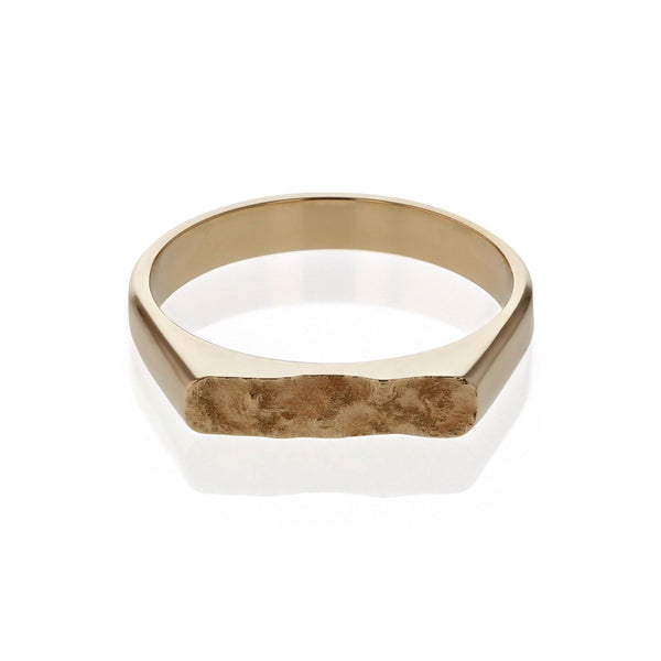 Chiselled Unity Ring Yellow Gold | SARAH & SEBASTIAN