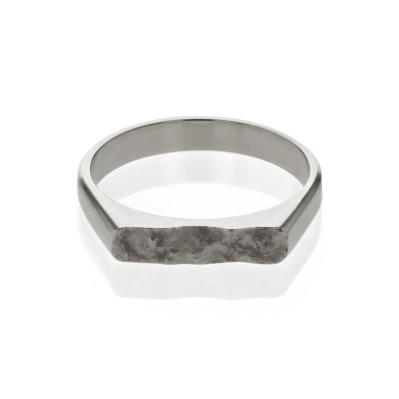 Chiselled Unity Ring White Gold | SARAH & SEBASTIAN