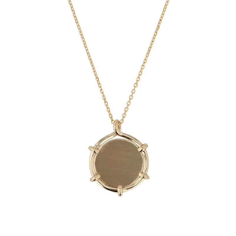 Coin Pendant Necklace Yellow Gold | SARAH & SEBASTIAN