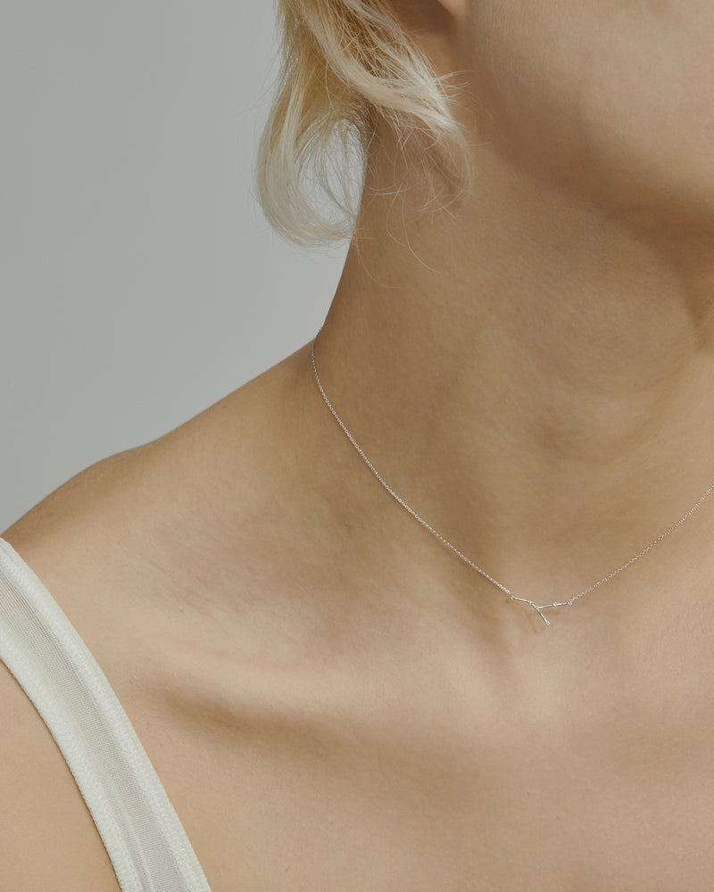 Celestial Cancer Necklace White Gold | Sarah & Sebastian onBody