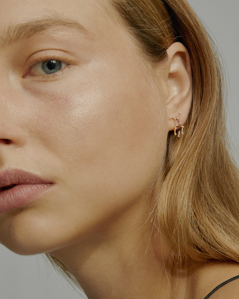 Single Celestial Virgo Earring Gold | Sarah & Sebastian onBody